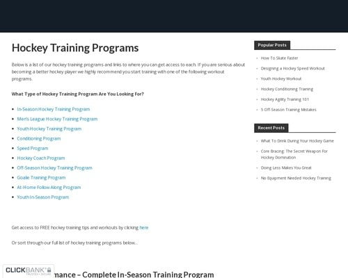 Hockey Training Programs - Workout Programs For Hockey Players