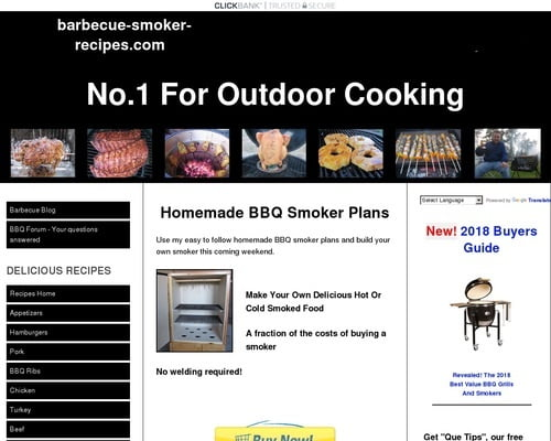 Homemade BBQ Smoker Plans