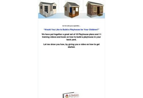 How to Build a Playhouse Step By Step Guide - plans videos and ebook