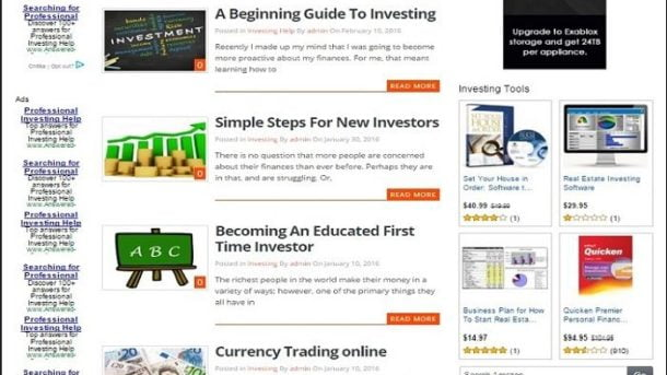 INVESTING BLOG WEBSITE BUSINESS FOR SALE! with SEO FRIENDLY CONTENT