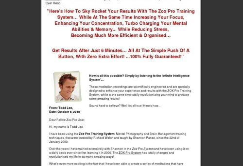 Infinite Intelligence System | Zox Pro | Zox Pro Training | Zoxpro Training System | Improve Memory | Strengthen Concentration | Boost IQ | Increase Focus