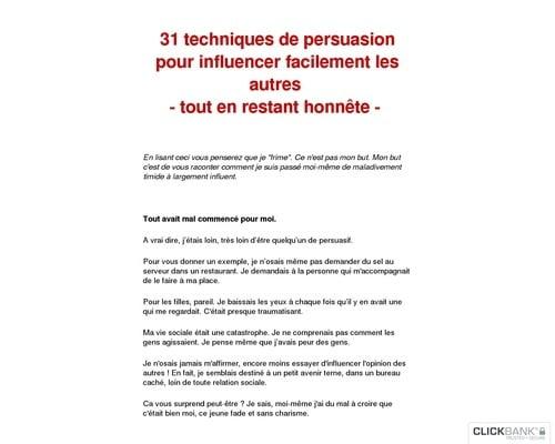 Les 31 secrets de persuasion- Techniques pour convaincre les autres facilement