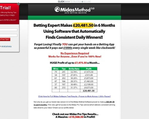 Midas Method Software - Insane Epcs, Rebills And Low Refunds!