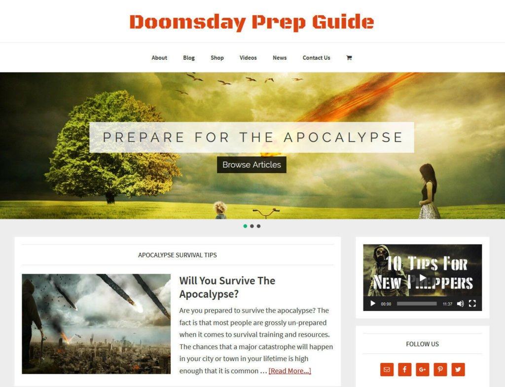[NEW DESIGN] * DOOMSDAY PREP * store blog website business for sale AUTO CONTENT