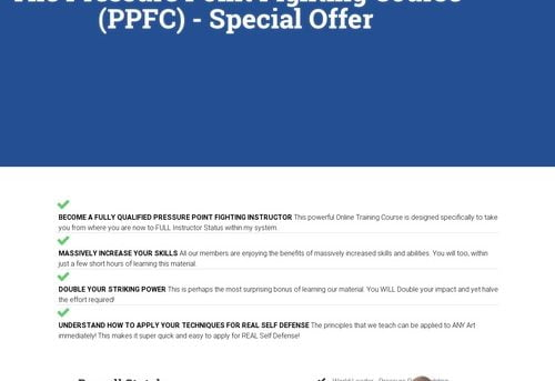 Pressure Point Fighting Course Special Offer – Russell Stutely Online Gym