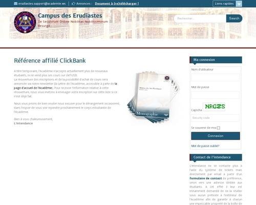 Référence affilié ClickBank – Campus des Erudiastes
