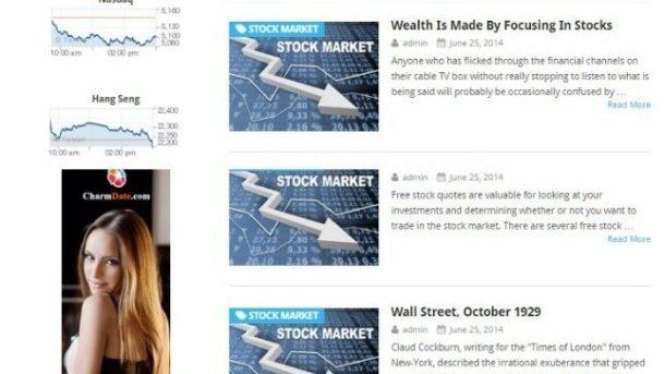 STOCK MARKET INVESTING BLOG WEBSITE BUSINESS FOR SALE! MOBILE FRIENDLY DESIGN