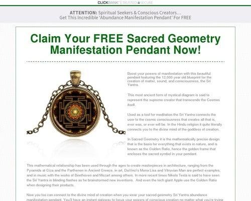 Sacred Geometry Manifestation Pendant