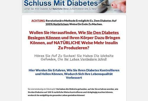 Schluss Mit Diabetes. Diabetes Treatment - German Version.