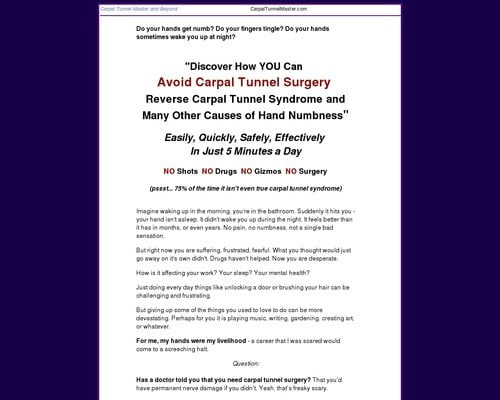 Carpal Tunnel Remedy - Carpal Tunnel Master, Self-Help for