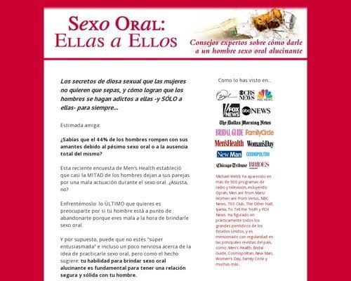 Sexo Oral: Ellas a Ellos. Una gu? de buen gusto para dar sexo oral sorprendente. (Felaci?)