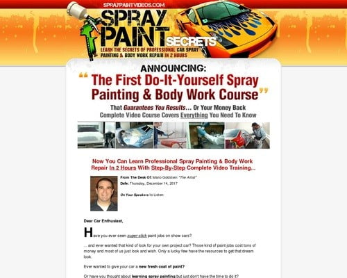 SprayPaintVideos® - How To Spray Paint Your Car - Auto Painting & Bodywork Repair