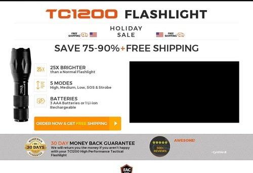 TC1200 Tactical Flashlight | 1Tac.com