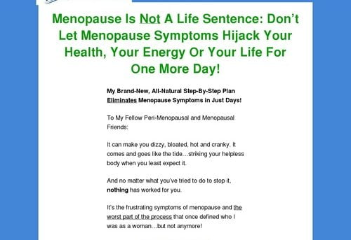 The Menopause Solution - Blue Heron Health News