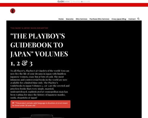 The Playboy's Guidebook to Japan – Giacomo d'Byron – Become a Master Player, Playboy & Gigolo & get limitless pussy in Japan with the help of Master Giacomo