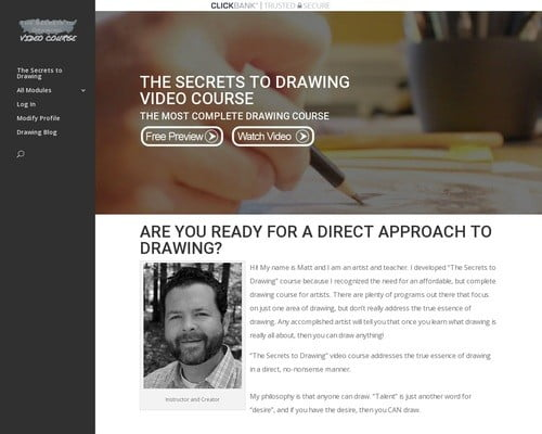 The Secrets to Drawing Video Course   The Secrets to Drawing