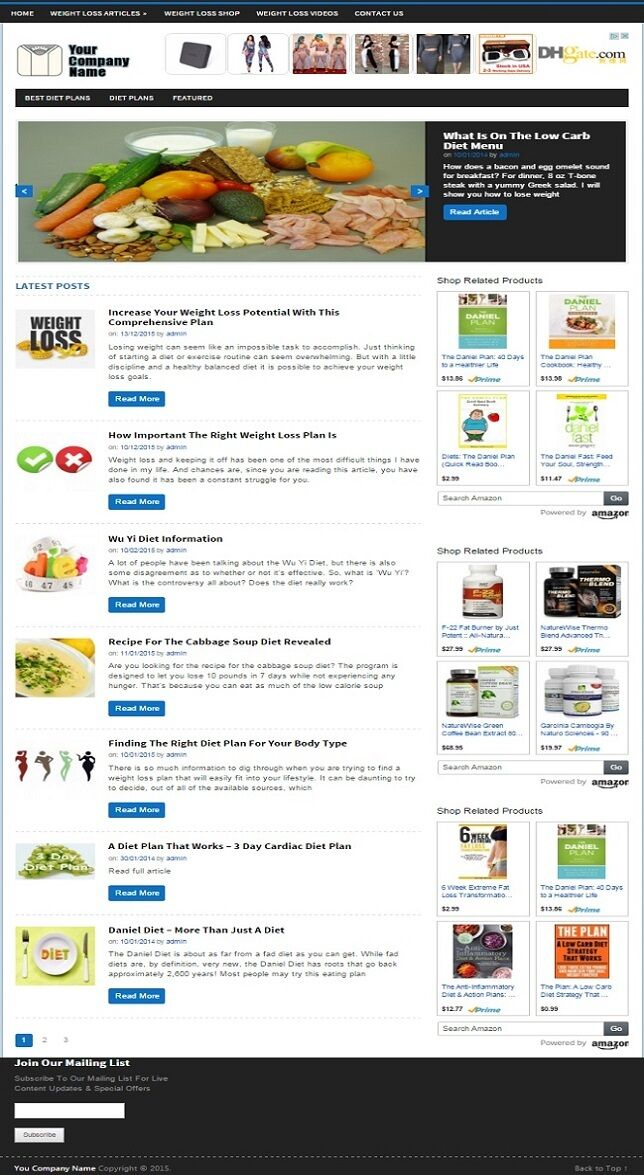 WEIGHT LOSS BLOG WEBSITE BUSINESS FOR SALE! FULLY DEVELOPED! MOBILE FRIENDLY