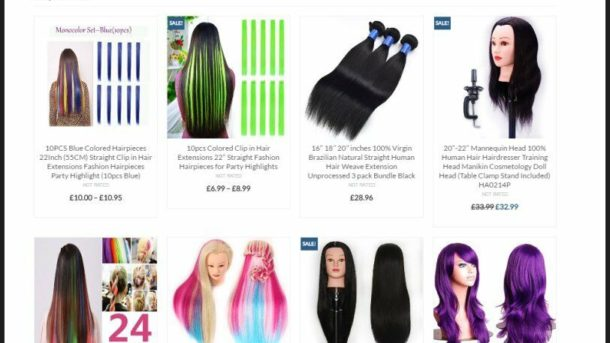 Website Designed Online HAIR EXTENSIONS Store Fully Stocked Dropship / Affiliate