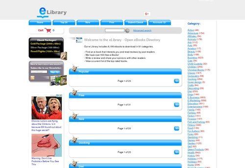 eLibrary - Open eBooks Directory