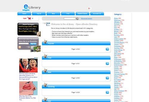eLibrary - Open eBooks Directory