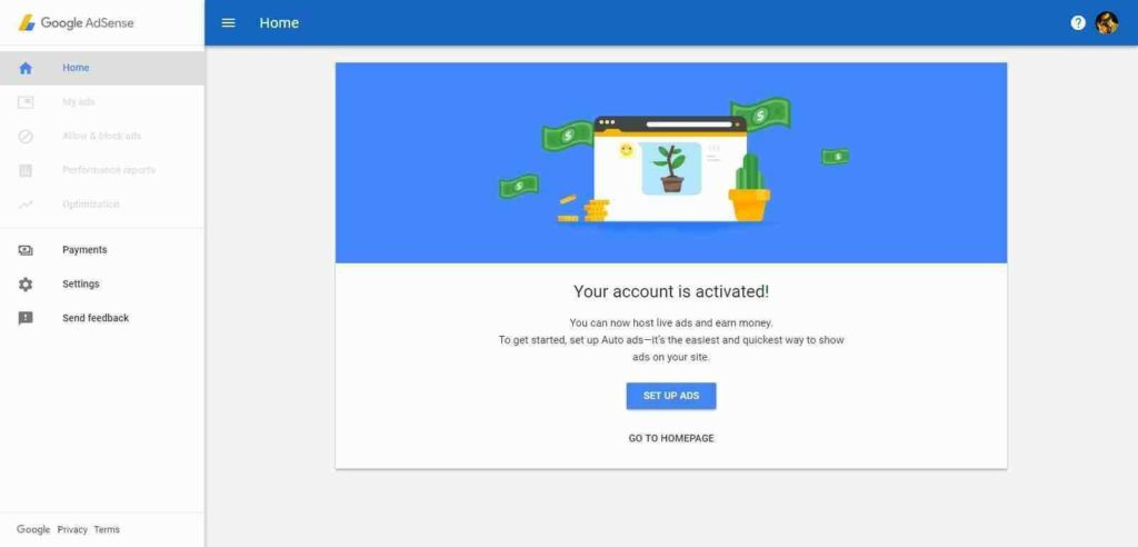 google adsense New Zealand non hosted account for website with domain