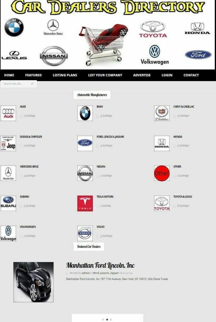 CAR DEALER BUSINESS DIRECTORY WEBSITE FOR SALE! PLUG & PLAY WORDPRESS THEME