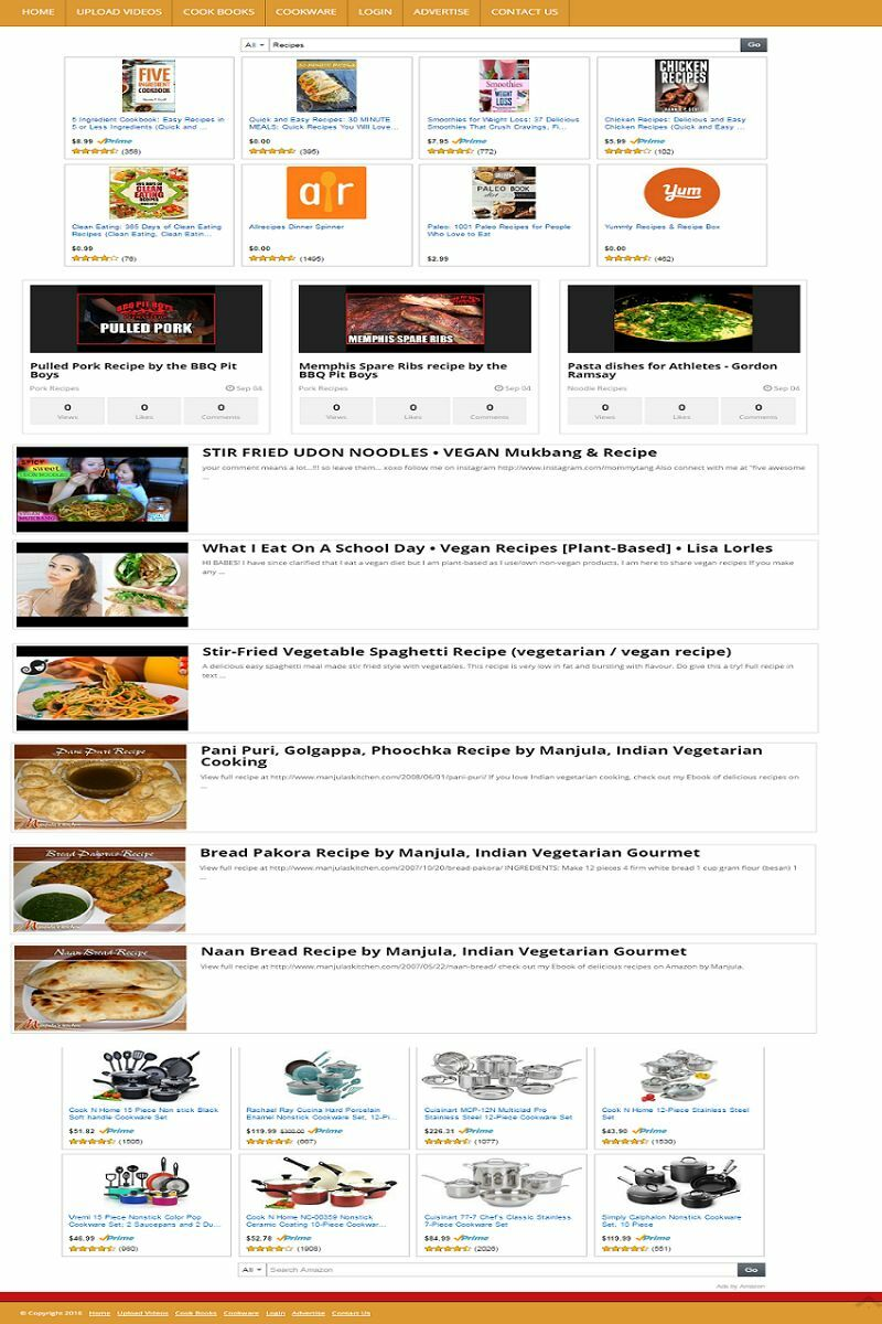 COOKING TIPS & RECIPES VIDEO POSTING WEBSITE BUSINESS FOR SALE! MOBILE FRIENDLY