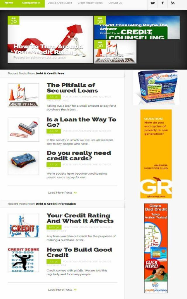 CREDIT REPAIR and REBUILDING HELP WEBSITE FOR SALE! MOBILE RESPONSIVE DESIGN
