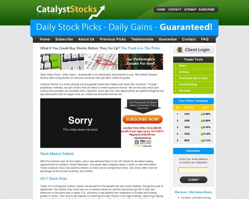 Catalyst Stocks - Stock Pick Service, Stock Picks