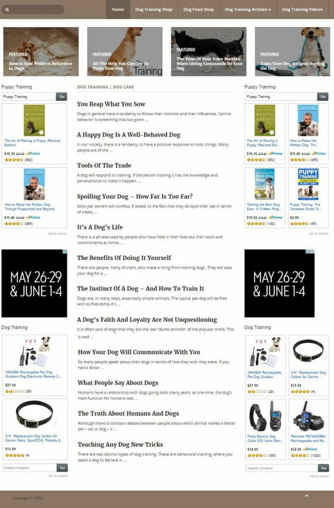 DOGS CARE and TRAINING BLOG WEBSITE BUSINESS FOR SALE! MOBILE FRIENDLY WEBSITE