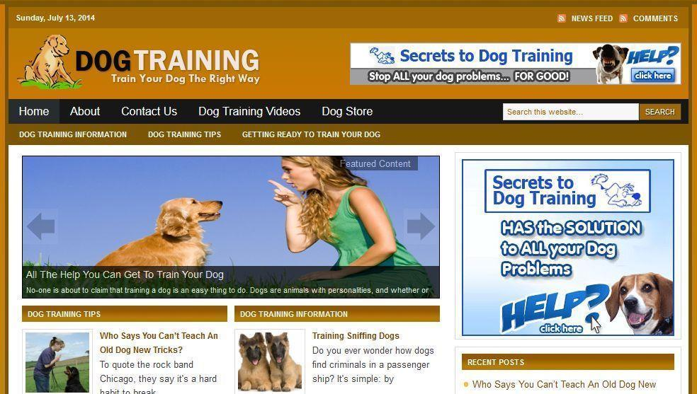Dog Training  Affiliate Website Free Installation + Free Hosting