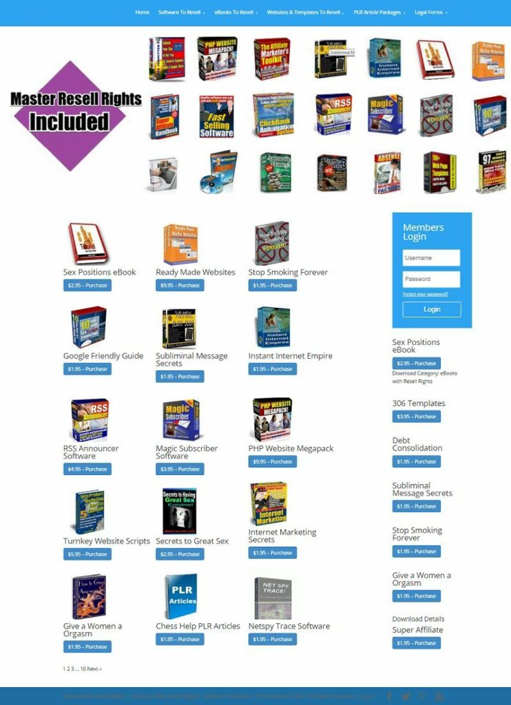 EBOOKS/SOFTWARE/SCRIPTS/ARTICLES DOWNLOAD SHOP WEBSITE FOR SALE! MOBILE FRIENDLY