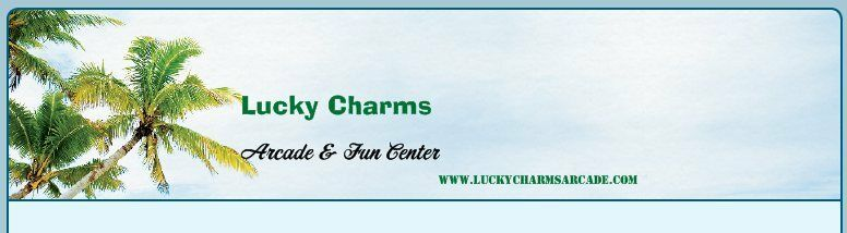 ESTABLISHED game room Domain & Web Site ;  LuckyCharmsArcade.com