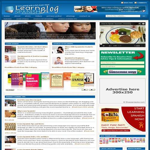 Established 'LEARN SPANISH' Affiliate Website Turnkey Business (FREE HOSTING)