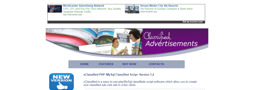 Excellent Classified Ads website with a super-clean layout