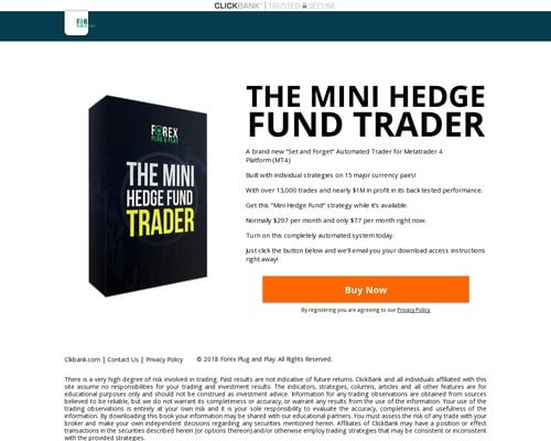 Forex Mini Hedge Fund Metatrader System