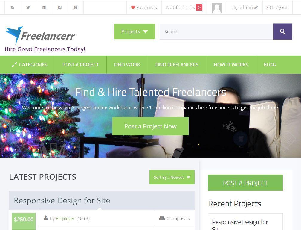 Freelance Marketplace Website For Sale - Freelancer, ODesk, eLance