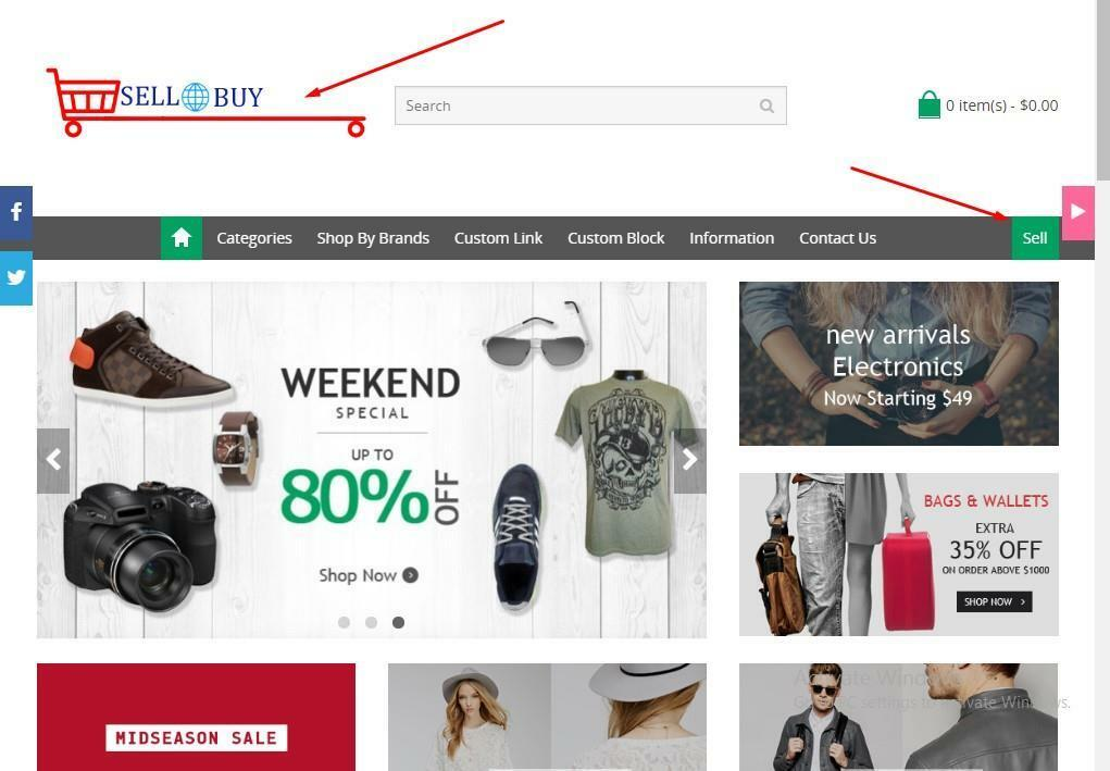 Full featured Multi-Purpose Muti Vendor eCommerce Web Free hosting+installation