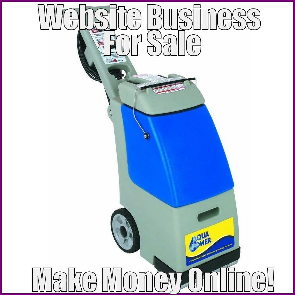 Fully Stocked CARPET WASHERS Website Business|FREE Domain|FREE Hosting|Traffic