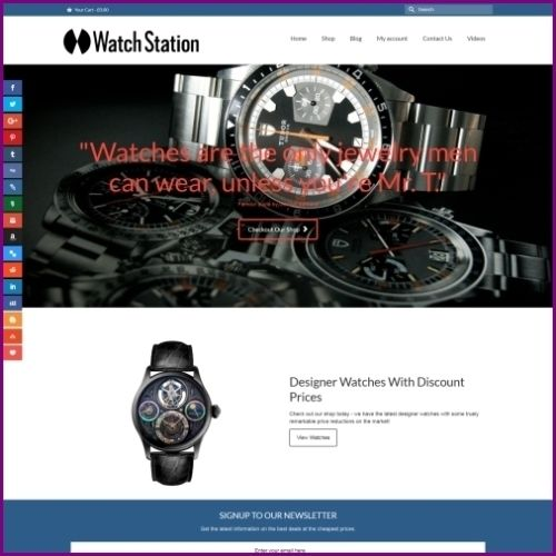"Fully Stocked Dropshipping DESIGNER WATCHES Website Business. ""Secret Bonuses"""