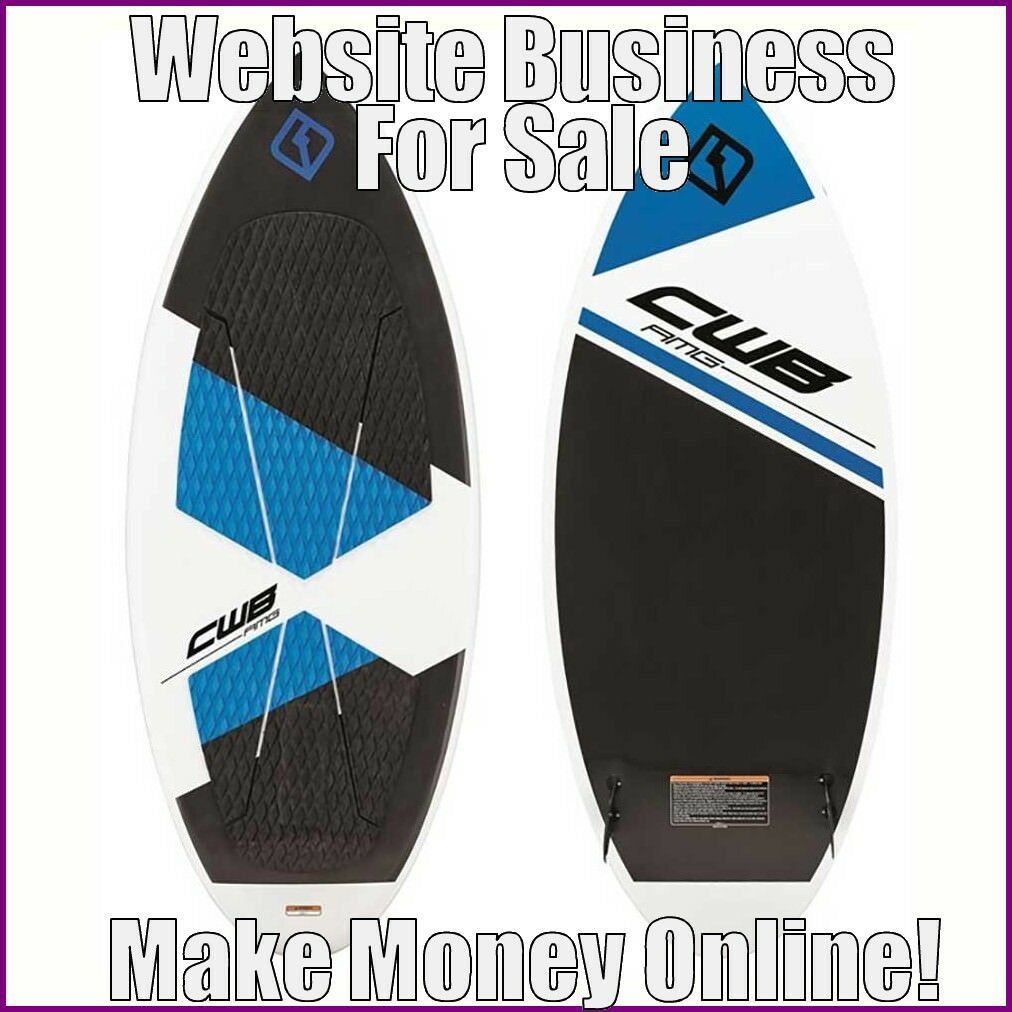 Fully Stocked WATERSKATING Website Business|FREE Domain|FREE Hosting|Traffic