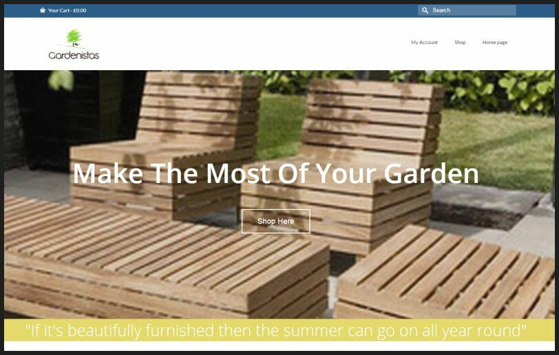GARDEN FURNITURE Website|$926.40 A SALE|FREE Domain|FREE Hosting|FREE Traffic