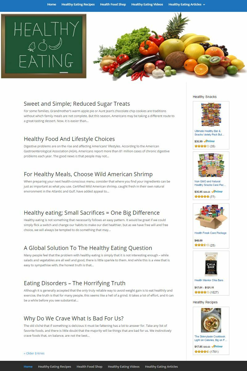 HEALTHY EATING and LIVING BLOG WEBSITE BUSINESS FOR SALE! MOBILE FRIENDLY