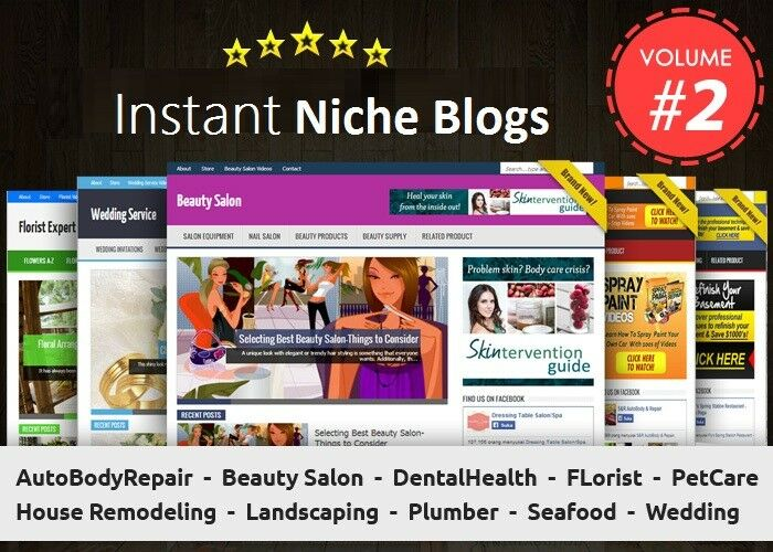 Instant Niche PLR Wordpress Blogs Package - VOLUME # 2 - Work From Home