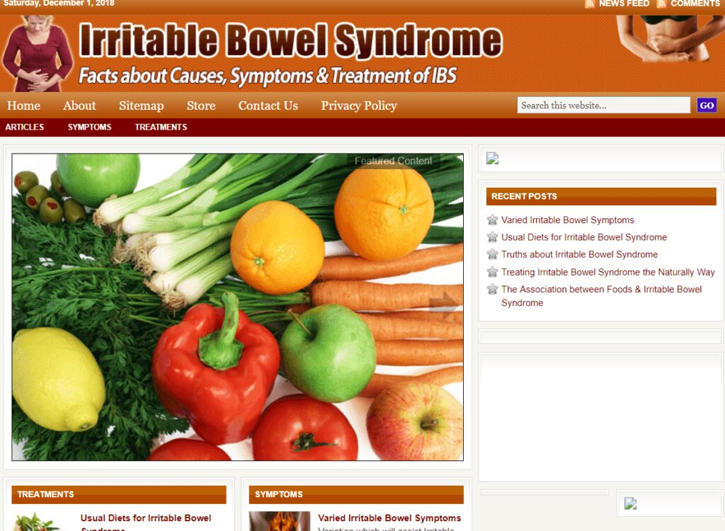 Irritable Bowel Syndrome Treatment Store Website Free Installation+Free Hosting