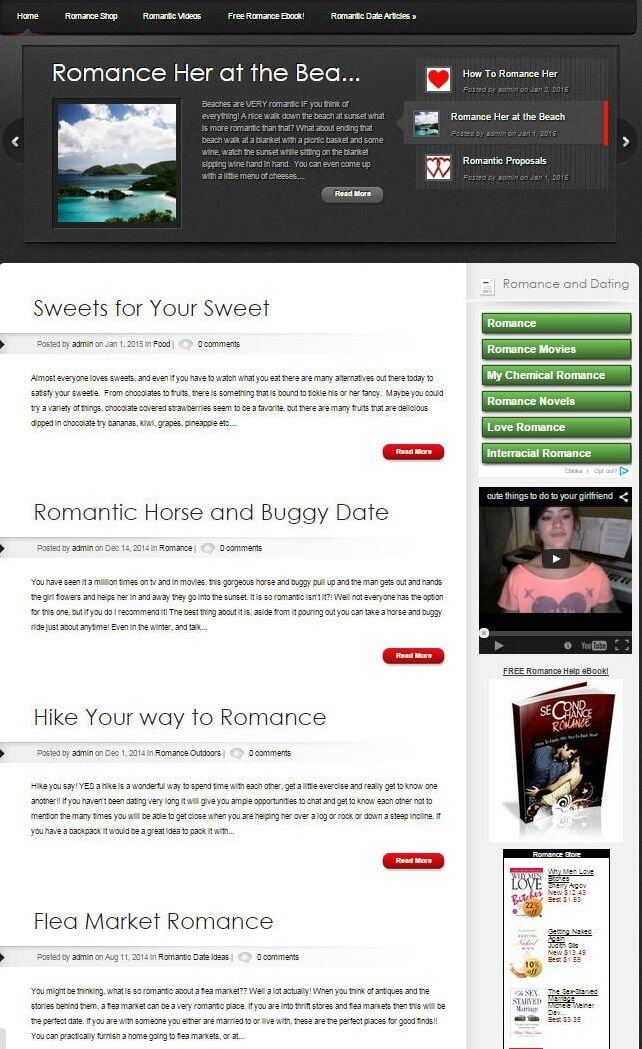 LOVE and ROMANCE HELP WEBSITE FOR SALE!