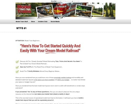 Model Trains For Beginners & Insiders Club