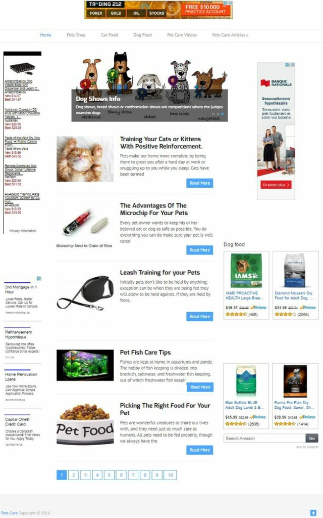 PETS CARE and SUPPLY SHOP WEBSITE BUSINESS FOR SALE! MOBILE FRIENDLY WEBSITE