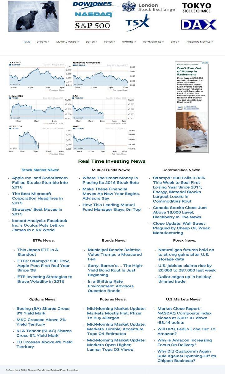 PROFESSIONAL INVESTING BLOG WEBSITE BUSINESS FOR SALE! MOBILE RESPONSIVE DESIGN