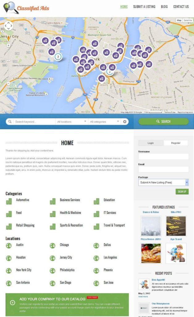 Premium Business Directory Portal Website + Free Install + Hosting